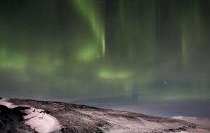 Aurora Borealis Nordlichter nördlich von Reykjavik Island
